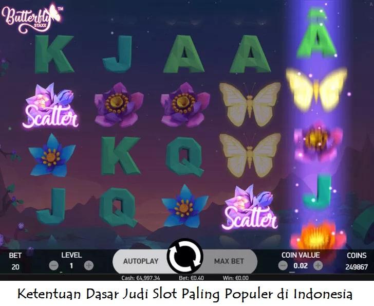 Ketentuan Dasar Judi Slot Paling Populer di Indonesia