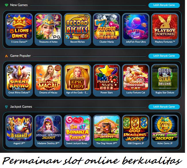 Permainan slot online berkualitas